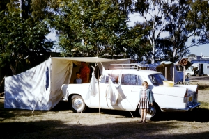 1961.11 camping near Rockhampton