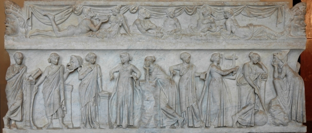 muses sarcophagus Louvre