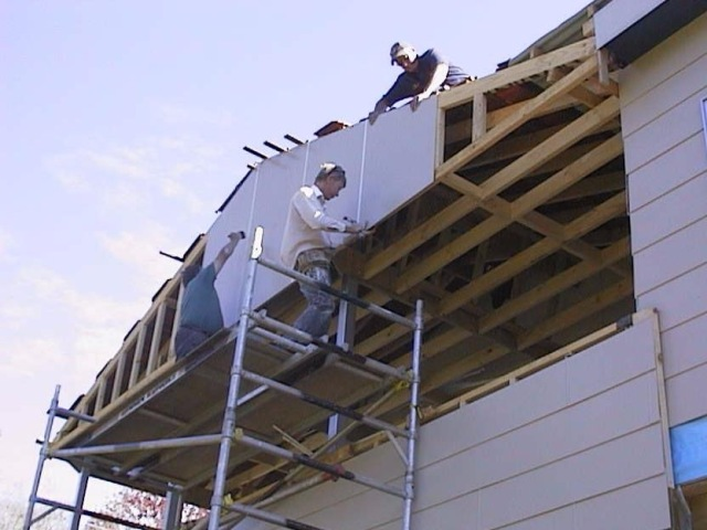 83.putting up the gable