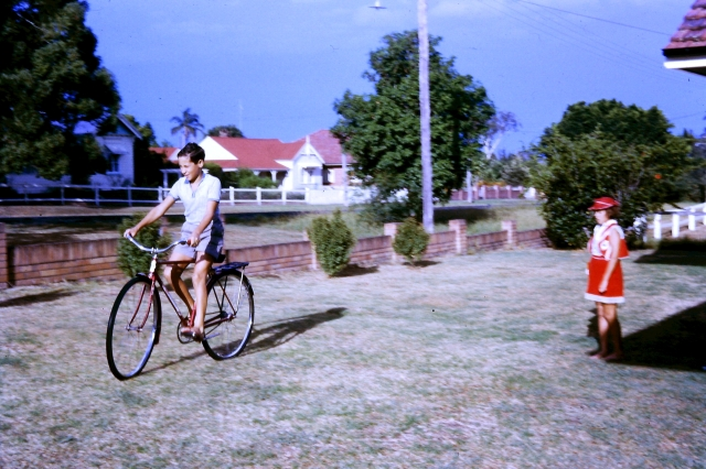 1966.11 Colin, new bike 2